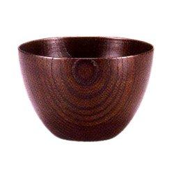 画像1: 【名入れ無料の漆器 椀/ボウルの通販】3.4寸 おかゆ椀 欅 まゆ型 黒拭漆 小