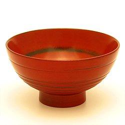 画像1: 【名入れ無料の漆器の通販】ごはんふっくら うるし飯椀 朱
