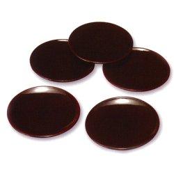 画像1: 【名入れ無料の漆器*お皿/小皿の通販】薄赤く沈む優雅と気品 総溜塗り銘々皿(5枚組)中