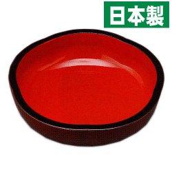画像1: 【名入れ無料の漆器の通販】10.5寸 こね鉢 梅型 溜内朱塗り