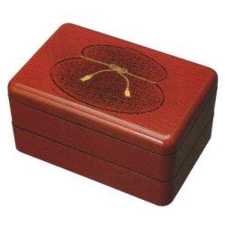 画像1: 江戸二段弁当箱 根来 ひさご