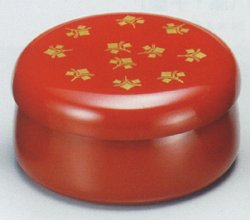 画像1: 【名入れ無料の漆器の通販】小花ボンボン 古代朱