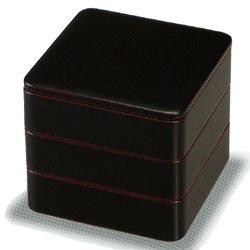 画像1: 【送料無料】【名入れ無料の漆器の通販】5.5寸 三段重箱 溜塗り内朱