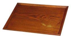 画像1: 【名入れ無料の漆器 お盆/トレイの通販】木製 長角膳トレイ 木目うさぎ 13寸
