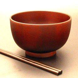 画像1: 【名入れ無料の漆器 椀/丼/ボウルの通販】ミニ丼椀 つや消し 4.2寸